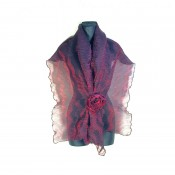 Deep Cherry Wispy Wrap